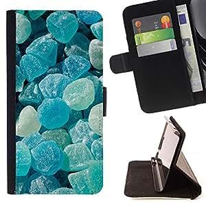 Momo Phone Case / Flip Funda de Cuero Case Cover - Crystal Meth Rocas caramelo Blue Beach - Samsung Galaxy J3 GSM-J300