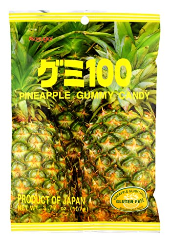 Kasugai Pineapple Gummy Candy 3.77oz (3 Pack)
