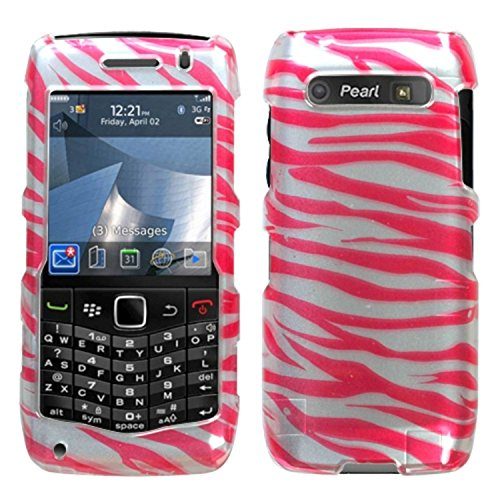 MyBat Blackberry 9100 Pearl 3G Phone Protector Cover - Retail Packaging - Zebra Skin/Hot Pink