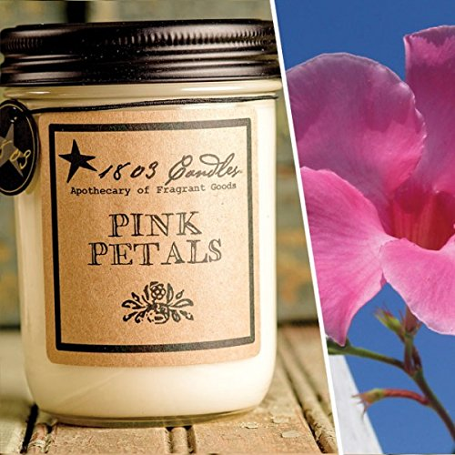 Discontinued Spring - 1803 Candles - 14 oz. Jar Soy Candles Spring Scents(Pink Petals)(Discontinued)