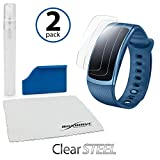 Samsung Gear Fit2 Screen Protector, BoxWave® [ClearSteel (2-Pack)] Strong as Steel, Lightweight Clear Skin for Samsung Gear Fit2