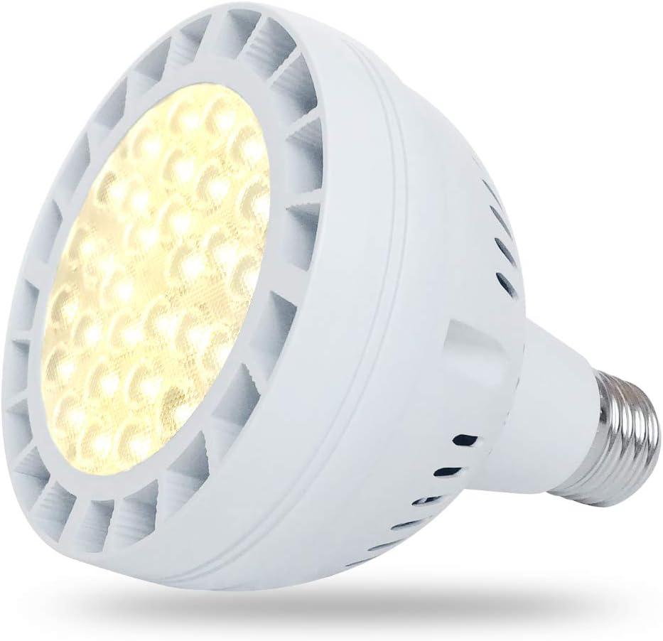 45W Daylight LED Grow Light Bulb, 400W Equivalent Full Spectrum LED Plant Grow Light for Indoor Plants, E26 Plant Grow Bulb for Fruits Succulent Plants Vegetables Grow Walls, Sunlight White UV IR