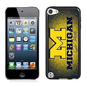 NEW Personalized Customized Ipod 5 Case with Ncaa Big Ten Conference Football Michigan Wolverines 10 Protective Cell Phone Hardshell Cover Case for Ipod 5th Generation Black