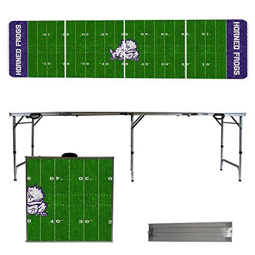 NCAA Texas Christian University Horned Frogs TCU Football Field Version 8 Foot Folding Tailgate Table, Multicolor, One Size by Victory Tailgate