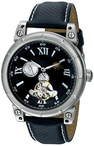 Nemesis Men's M087K Black Collection Mechanical Sun and Moon Watch
