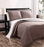 Demi Stone/Spa Reversible Bedspread/Quilt Set King