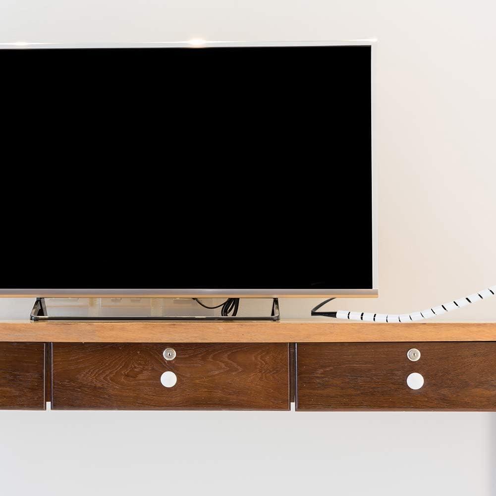 Computerkabel zu Hause oder im B/üro flexibel zuschneidbar Umiusiyun Kabelkanal 16 mm x 1,5 m Spiralkabelschlauch f/ür TV-Draht wei/ßes Kabel-Management-System 2 St/ück wei/ß