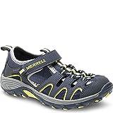Merrell Boys' Hydro H2O Hiker Sandal Sport, Blue-MC, 3 Wide US Little Kid