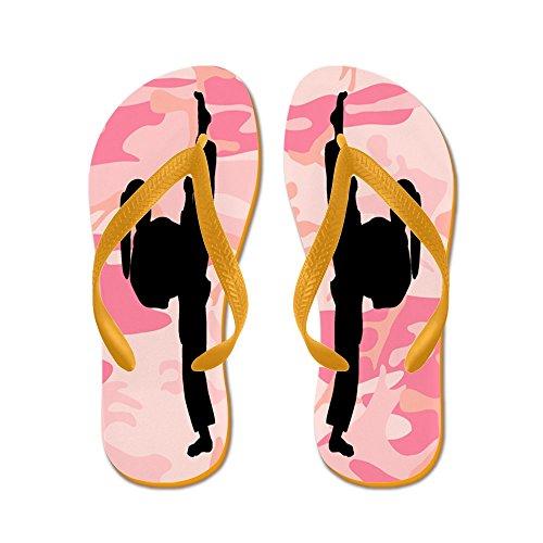 Cafepress Karate Sand - Flip Flops, Roliga Rem Sandaler, Strand Sandaler Apelsin