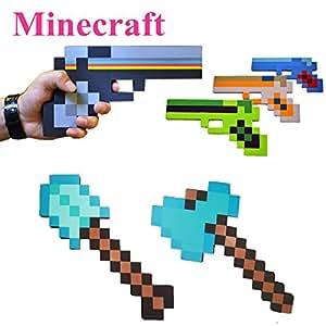 Toy, Fun, Game, Minecraft Toys Sword Pickax EVA Toys Foam Diamond Weapons Model Brinquedos for Kids Gifts Minecraft gun guft, Children, Kids, Play