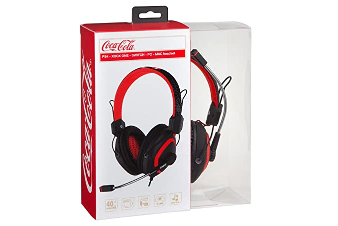 Indeca - Auriculares Multiplataforma Coca-Cola (PlayStation 4)