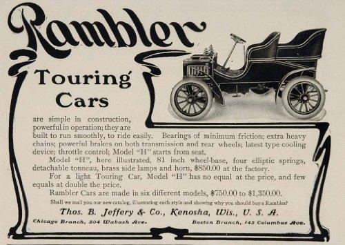Review 1904 Ad Rambler Auto