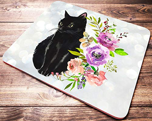 Non-Slip Round Mousepad, Seal Lilac Tabby Point Birman Cat Mouse Pad for Home, Office and Gaming Desk