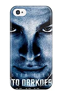 For AnnDavidson Iphone Case, High Quality For Apple Iphone 4/4S Case Cover Star Trek Into Darkness Art Skin Case Cover