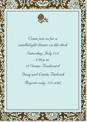 Deluxe Tapestry (Acadian Tapestry Deluxe Imprintable Invitation Kit (Stationery))