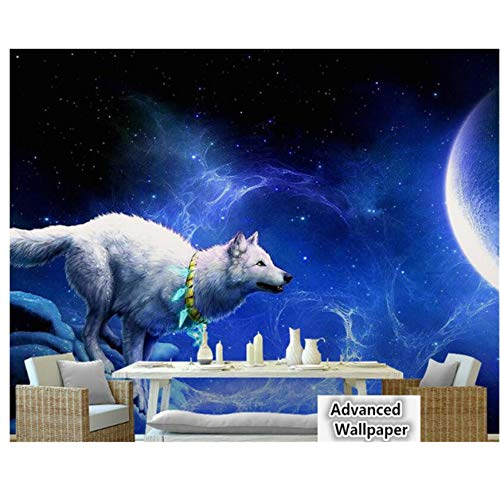 Tools Home Improvement Meaosy White Wolf Necklace Moon Crescent Dream Aesthetic Ktv Tooling Landscape Background Wallpaper 3d Wallpaper 400x280cm Brigs Com