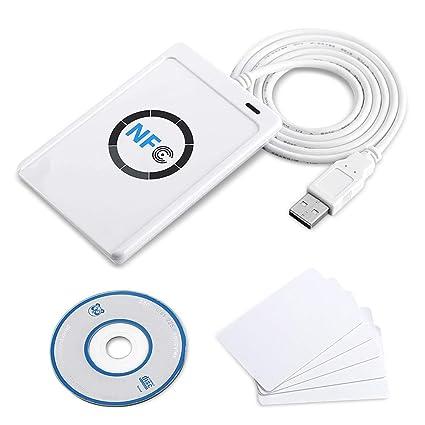 TOPINCN Lector Tarjeta ID Papel RFID NFC ACR122U ISO14443 A ...