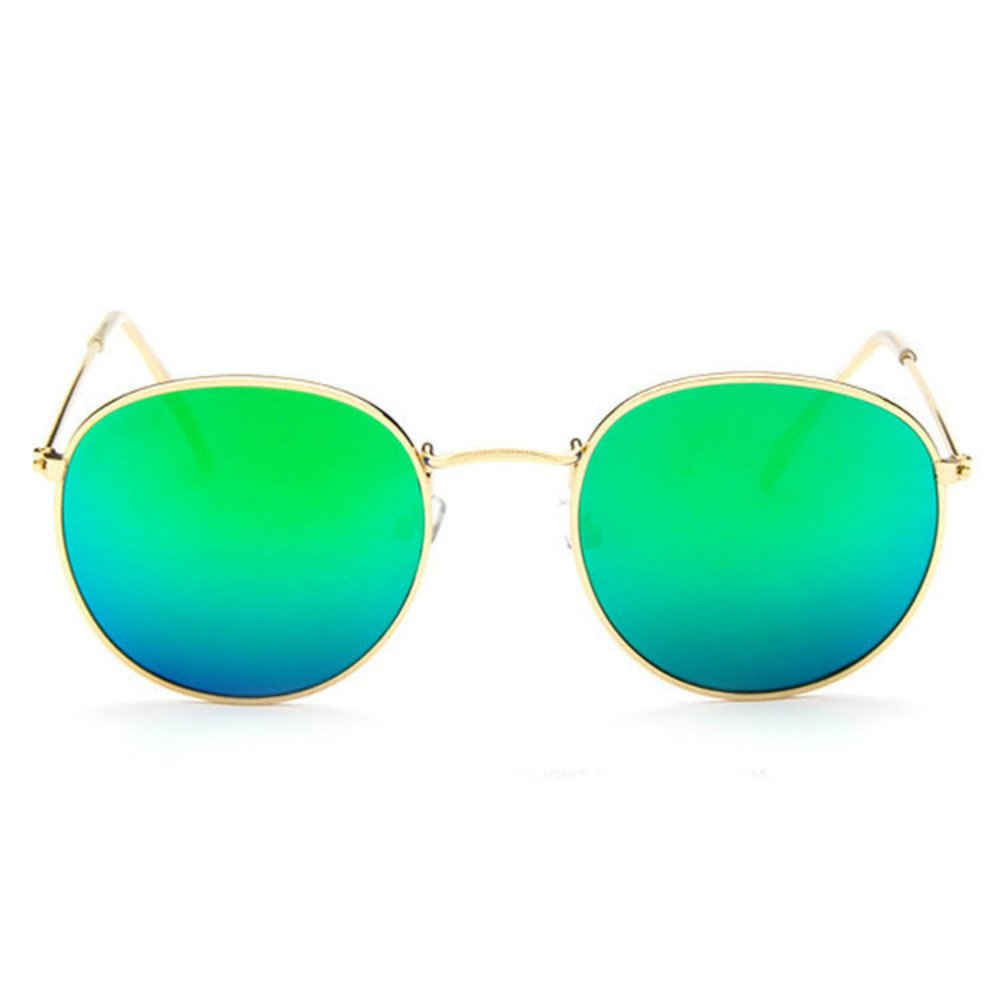 663180460 Fashion Men Women's Vintage Round Metal Sunglasses UV-Protection Cute Retro  Oversized Mirror Glasses ADSRO (Gold Frame with Green Lens): Amazon.ca:  Sports & ...