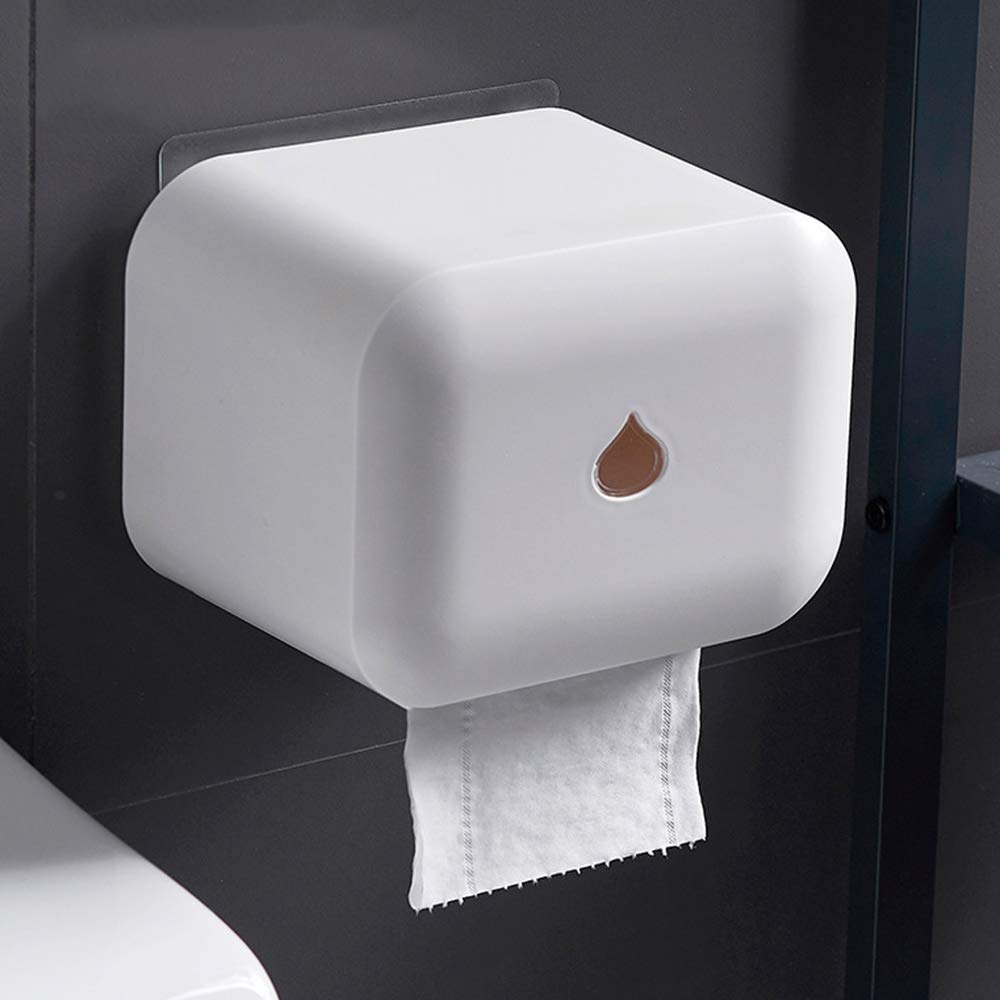 ERT Paper Towel Dispenser,Waterproof No Trace Adhesive Paper Towel Holder Roll Holder Wall-Mounted Does Not Rust Toilet Paper Holder