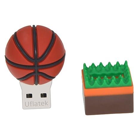 Uflatek 16 GB Pendrive Diseño Baloncesto Memoria USB 2.0 Flash ...