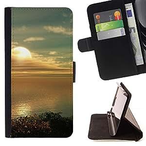 Momo Phone Case / Flip Funda de Cuero Case Cover - Sunset Beautiful Nature 80 - LG G4