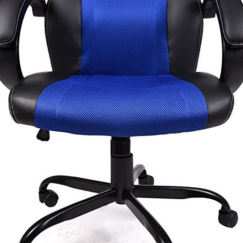 51 2TysgjVL - ELECWISH-PU-Leather-Mesh-Gaming-Chair-Racing-Style-High-Back-Swivel-Computer-Office-Chair