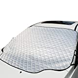 UBEGOOD Windshield Snow Cover, Car Ice Snow Frost Cover Visor Protector with Magnet, All Weather Auto Front Windscreen Sun Shade Guard Covers, Fits for Most Cars & SUVs