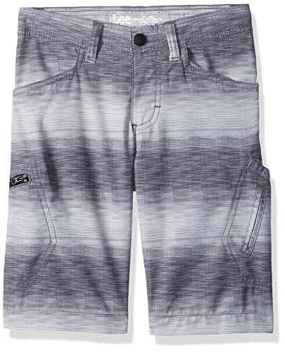 (LEE Boys' Big Dungarees Grafton Cargo Short, Silver Ombre Stripe, 8 Regular)