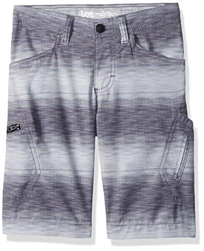 LEE Boys' Little Dungarees Grafton Cargo Short, Silver Ombre Stripe, 4 Regular