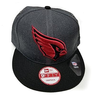 New Era Arizona Cardinals 9Fifty Grand Logo Charcoal On Field Adjustable Snapback Hat NFL