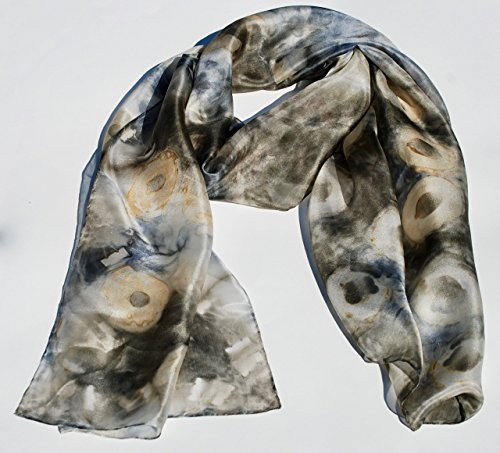 Handmade Natural Dye Women Silk Scarf – Elderberry Passion