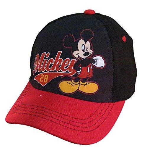 Disney Mickey Mouse Boys Black Baseball Cap - Size 4-14 [6014]