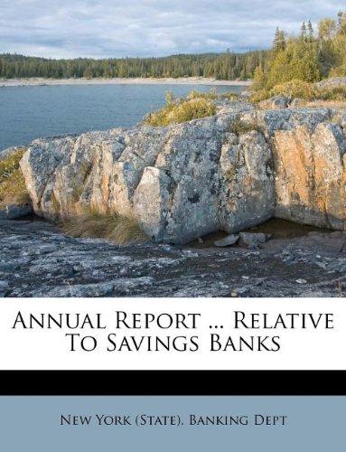Annual Report ... Relative To Savings Banks pdf epub