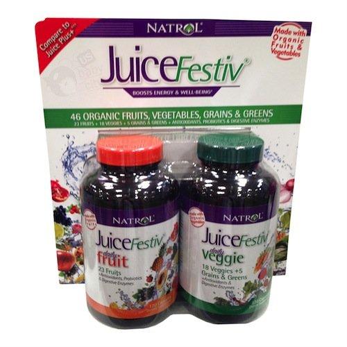Natrol JuiceFestiv FruitFestiv VeggieFestiv Capsules