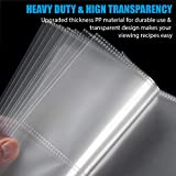 60 Pack Recipe Card Page Protectors, Sooez Heavy