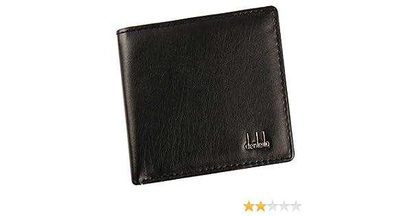 AIMEE7 Billetera HombreCuero Original Sujetadora Tarjeta Crédito Dinero Cartera de negocios (Negro): Amazon.es: Equipaje