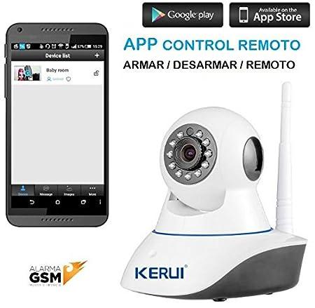 Kit alarma Kerui GS90B inalámbrica GSM Y WiFi para hogar ...