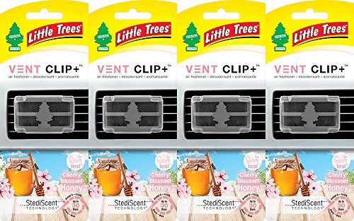 Clip Honey (Little Trees Vent Clip+ Air Freshener, Cherry Blossom)