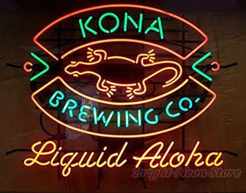 Kona Brewing Co Neon Sign 24''x20'' inches Bright Neon Light for Mancave Beer Bar Pub Garage