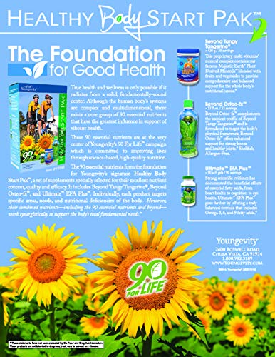 Youngevity Healthy Body Start Pack 2.0 (Beyond Tangy Tangerine 2.0, Osteo FX Powder, Ultimate EFA Plus) (Worldwide Shipping) by Youngevity