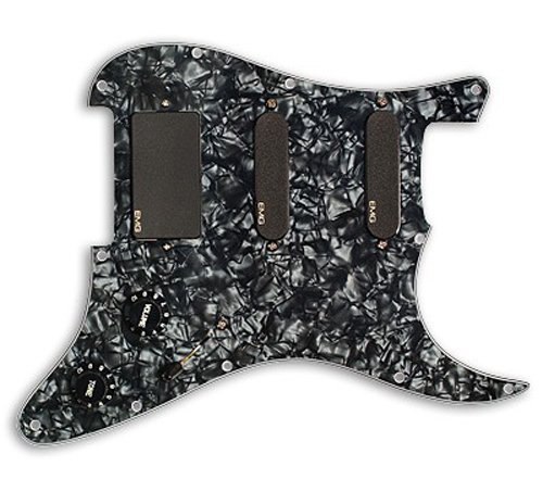 EMG SL20 Steve Lukather Prewired Guitar Pickguard Set, Black