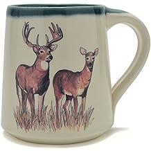 Great Bay Pottery Whitetail Deer Coffee Mug