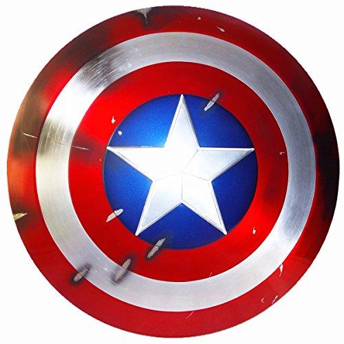 Gmasking Aluminum Alloy Captain America Adult Shield 1:1 Replica+Adjustable Strap - Captain America Replica Costumes