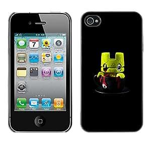 For Apple iPhone 4 / iPhone 4S / 4S Case , Cute Monster Toy 3D Figurine - Diseño Patrón Teléfono Caso Cubierta Case Bumper Duro Protección Case Cover Funda