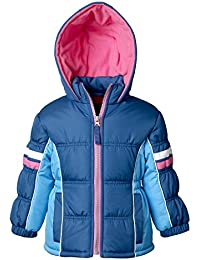 Puffer Jacket for Girls, Babies & Toddlers with Colorblock Pattern