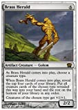 Magic: the Gathering - Brass Herald - Eighth Edition - Foil