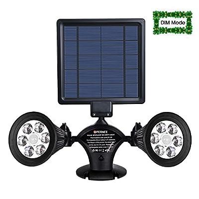 OPERNEE Solar Spotlight, Upgraded Motion Sensor Solar Lights 12 LED 600LM Solar Powered Dual Head Outdoor Security Lights