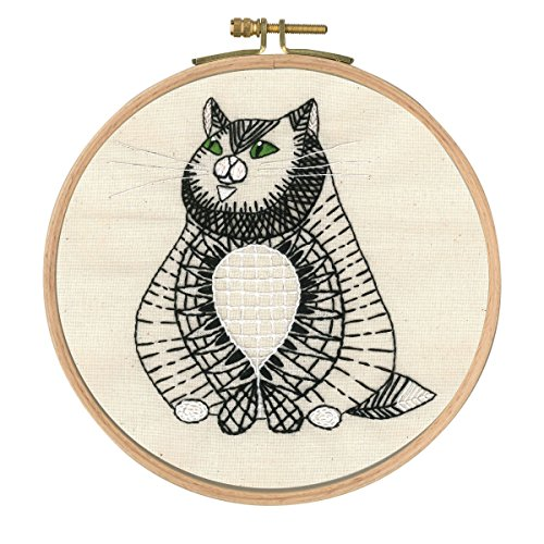 Dmc Embroidery Kits - DMC Printed Embroidery Kit - Reigning Cats and Dogs - Sebastian Sitting