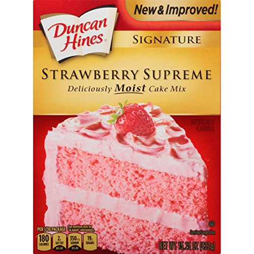 Hines Chocolate Cake Mix Duncan - Duncan Hines Signature Cake Mix, Strawberry Supreme, 15.25 Ounce