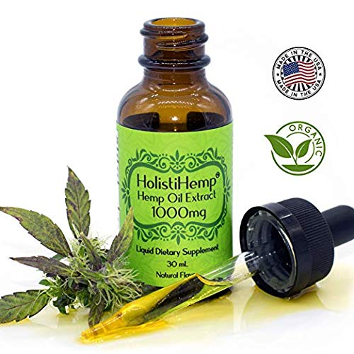 Hemp Oil Extract Full Spectrum 1000mg 30mL – Pain Relief – Anti Anxiety Social Anxiety- Depression Stress Support – Anti-inflammatory – Organic Grown & Made in USA – Brain Health- Natural Flavor